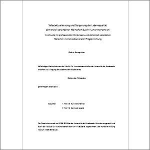 Selbstaktualisierung und Steigerung der Lebensqualität demenziell ...