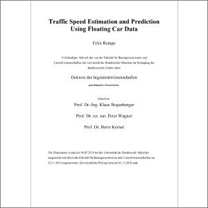 Traffic Speed Estimation and Prediction Using Floating Car Data